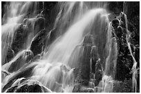 Water falling over volcanic rock, North Cascades National Park.  ( black and white)