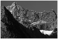 Mount Benazarino, morning, North Cascades National Park.  ( black and white)