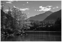 Gorge Lake, North Cascades National Park Service Complex.  ( black and white)