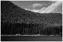 Ross Lake and resort, North Cascades National Park Service Complex.  ( black and white)
