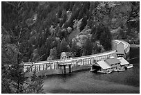 Ross Dam, North Cascades National Park Service Complex.  ( black and white)