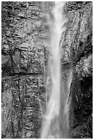 Upper Rainbow Falls, Stehekin, North Cascades National Park Service Complex.  ( black and white)