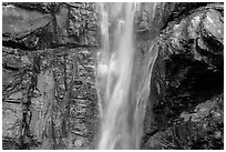 Upper Rainbow Falls and cliff, North Cascades National Park Service Complex.  ( black and white)