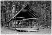 Historic schoolhouse, Stehekin, North Cascades National Park Service Complex.  ( black and white)