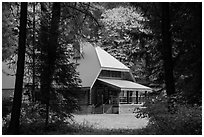 New schoolhouse, Stehekin, North Cascades National Park Service Complex.  ( black and white)