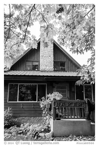Stehekin Pastry Company, Stehekin, North Cascades National Park Service Complex.  (black and white)