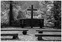 Groseclose meditation site, Stehekin, North Cascades National Park Service Complex.  ( black and white)