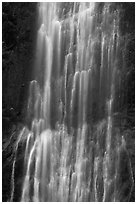 Marymere Falls close-up. Olympic National Park, Washington, USA. (black and white)