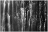 Water curtain, Marymere Fall. Olympic National Park ( black and white)