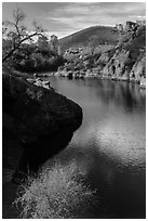 Ripples over water, Bear Gulch Reservoir. Pinnacles National Park ( black and white)
