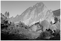 Machete Ridge, late afternoon. Pinnacles National Park ( black and white)