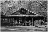 Visitor center and camp store. Pinnacles National Park ( black and white)