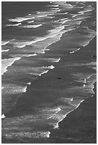 Succession of waves on Crescent Beach. Redwood National Park ( black and white)
