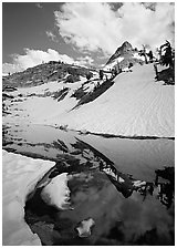 Monarch Lake, early summer. Sequoia National Park, California, USA. (black and white)