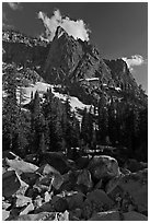The Watchtower. Sequoia National Park, California, USA. (black and white)