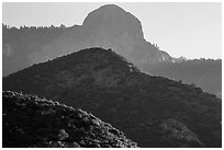 Hills below Moro Rock. Sequoia National Park ( black and white)