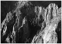Cathedral Rocks seen from  top of El Capitan, early morning. Yosemite National Park, California, USA. (black and white)