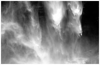 Water plunges fron Yosemite Falls. Yosemite National Park ( black and white)