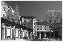 Ahwahnee lodge. Yosemite National Park ( black and white)