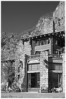 Ahwahnee hotel. Yosemite National Park ( black and white)
