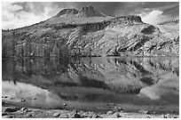 May Lake and Mt Hoffman. Yosemite National Park ( black and white)