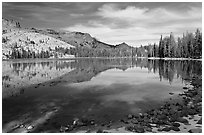May Lake shore. Yosemite National Park ( black and white)