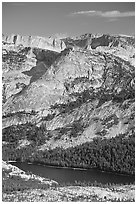 Domes above Tenaya Lake. Yosemite National Park ( black and white)