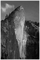Leaning Tower, sunset. Yosemite National Park ( black and white)