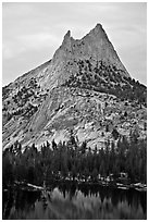 Cathedral Peak at sunset. Yosemite National Park ( black and white)