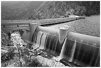 Overflow channel,  O'Shaughnessy Dam. Yosemite National Park ( black and white)