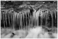 Cascading water, Fern Spring. Yosemite National Park ( black and white)
