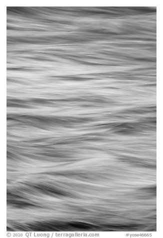 Water abstract. Yosemite National Park (black and white)