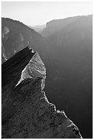 Diving Board and Yosemite Valley, late afternoon. Yosemite National Park ( black and white)