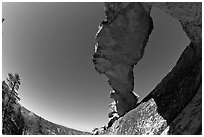 Indian Arch from below. Yosemite National Park ( black and white)