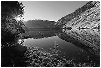 Sunrise, Merced Lake. Yosemite National Park ( black and white)