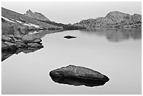 Dawn over Roosevelt Lake. Yosemite National Park ( black and white)