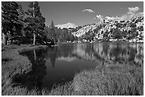 Middle Young Lake. Yosemite National Park ( black and white)