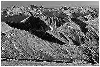 Granite mountains and domes. Yosemite National Park ( black and white)