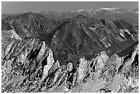 Shepherd Crest seen from Mount Conness. Yosemite National Park ( black and white)