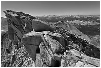Top of Mount Conness. Yosemite National Park ( black and white)