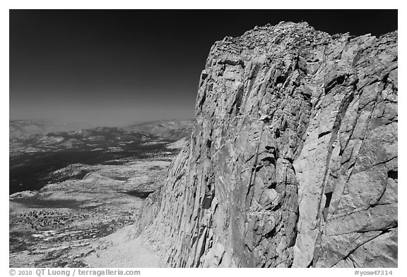 Mount Conness summit. Yosemite National Park (black and white)