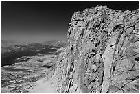 Mount Conness summit. Yosemite National Park ( black and white)