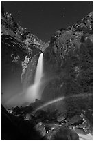 Space rainbow, Lower Yosemite Fall. Yosemite National Park ( black and white)