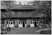 Post Office. Yosemite National Park ( black and white)