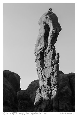 Spire. Arches National Park (black and white)