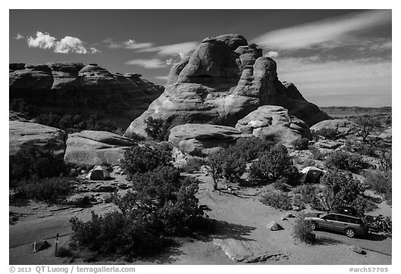 Devils Garden Campground. Arches National Park (black and white)