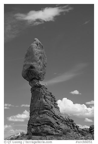 Balanced Rock. Arches National Park (black and white)