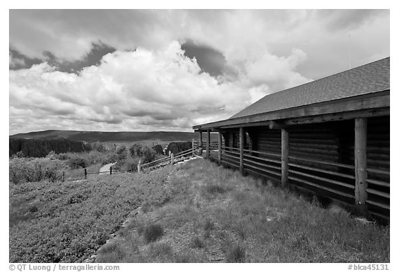 Visitor center. Black Canyon of the Gunnison National Park (black and white)