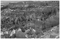 Hoodoos and blue snow from Inspiration Point. Bryce Canyon National Park ( black and white)