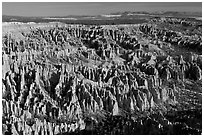 Paria view. Bryce Canyon National Park, Utah, USA. (black and white)
